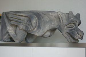 sculpture gargouille polystyrene-Bruno Marson tailleur de pierre et sculpteur-Strasbourg Ernolsheim-Bruche Alsace Bas-Rhin 67