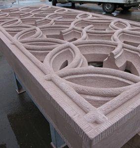 balutrade en grès des Vosges tailleur de pierre bruno marson ernolsheim bruche strasbourg
