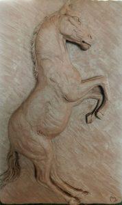 sculpture cheval argile sculpteur bruno marson ernolsheim bruche strasbourg
