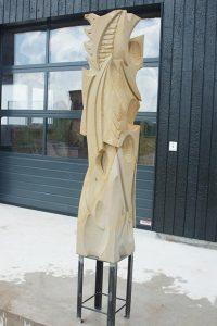 sculpture contemporaine en grès sculpteur bruno marson ernolsheim bruche strasbourg