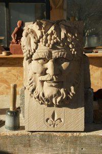 sculpture bachus pierre sculpteur bruno marson ernolsheim bruche strasbourg