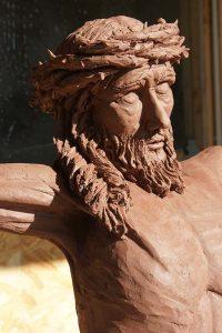 sculpture buste christ sculpteur bruno marson ernolsheim bruche strasbourg