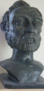 sculpture buste terre cuite sculpteur bruno marson ernolsheim bruche strasbourg