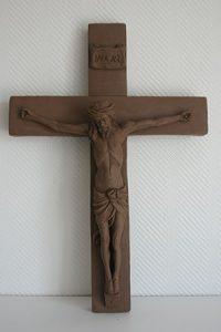 scupture christ argile sculpteur bruno marson ernolsheim bruche strasbourg