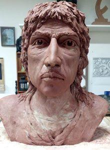 sculpture buste argile sculpteur bruno marson ernolsheim bruche