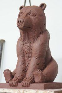 sculpture ours sculpteur bruno marson ernolsheim bruche strasbourg